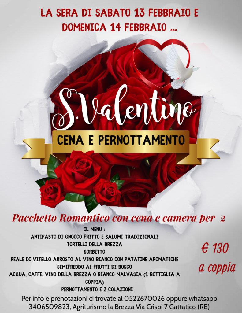 San Valentino - cena e pernottamento per 2 - Agriturismo La Brezza